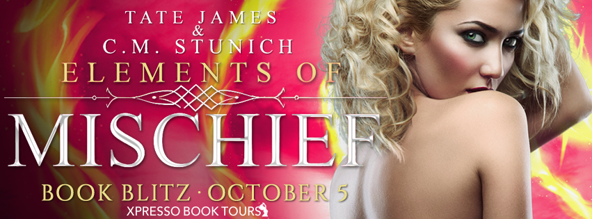 Book Blitz: Elements of Mischief by Tate James & C.M. Stunich