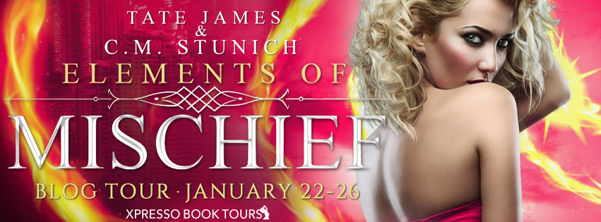 [Blog Tour] ELEMENTS OF MISCHIEF by SM Stunich  & Tate James @CMStunich @XpressoTours #Review #Giveaway #TheUnratedBookshelf