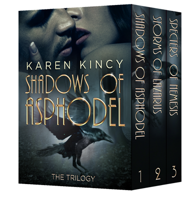 Book Blitz: Excerpts & Giveaway for Shadows of Asphodel Box Set: The Complete Trilogy by  Karen Kincy