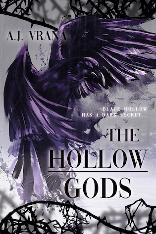 The Hollow Gods, AJ Vrana, cover, dark fantasy,